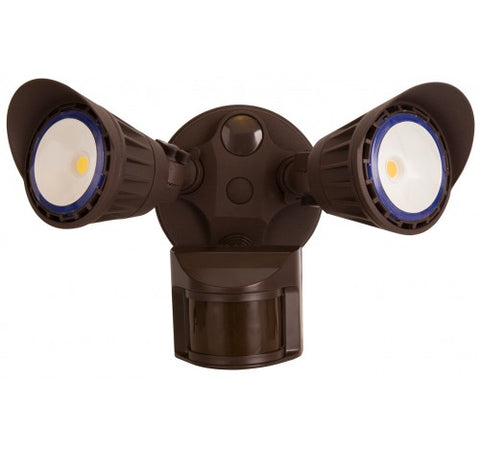 Westgate 20W Led Security Lights With PIR Sensor 120VAC - Dark Bronze - BuyRite Electric