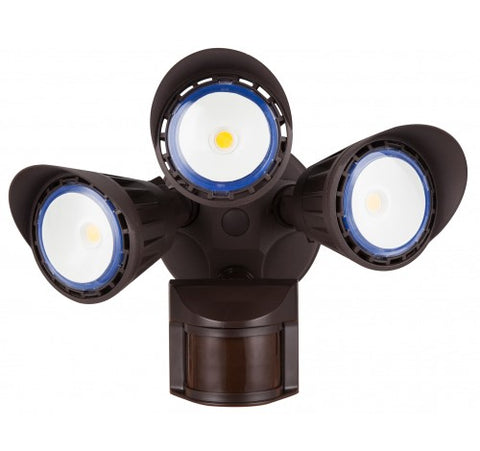 Westgate 30W Led Security Lights With PIR Sensor 120VAC - Dark Bronze - BuyRite Electric
