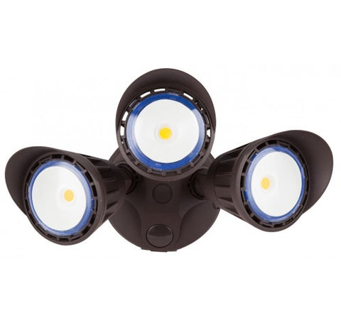 Westgate 30W  Dark Bronze LED Security Lights With Optional Motion Sensor Or Photocell 120V AC