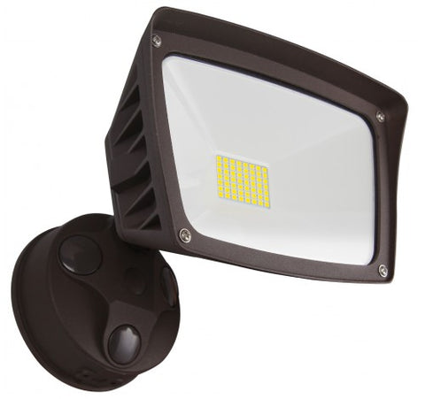 Westgate 28W Dark Bronze LED Security Lights With Optional Motion Sensor Or Photocell 120V AC