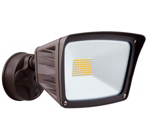 Westgate 40W Bronze Led Security Lights With Optional Motion Sensor Or Photocell- 120V AC