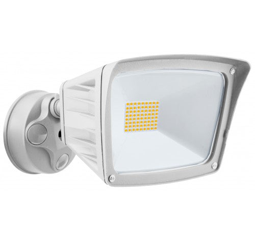 Westgate 40W LED Security Lights With Optional Motion Sensor Or Photocell 120V AC White - BuyRite Electric