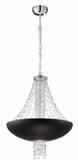 Eurofase Lighting 28108-016 Lopez 8 Light 21 inch Matte Pendant Ceiling Light Black Finish