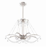 Eurofase Lighting 28145-011 Gambari 8 Light 39 inch Chandelier Ceiling Light Satin Nickel Finish