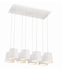 Eurofase Lighting 28163-015 Borto LED 13 inch Chandelier Ceiling Light White Finish