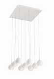 Eurofase Lighting 28170-013 Patruno LED 19 inch Matte Chandelier Ceiling Light White Finish
