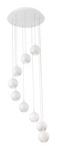 Eurofase Lighting 28173-014 Patruno 9 Light Matte LED Chandelier Ceiling Light White Finish