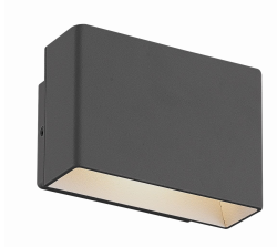Eurofase Lighting 28282-020 Vello LED 3 inch Outdoor Wall Mount Graphite Grey Finish