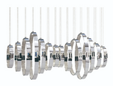 Eurofase Lighting 28558-019 Glade 14-Light LED Chandelier Light Chrome Finish