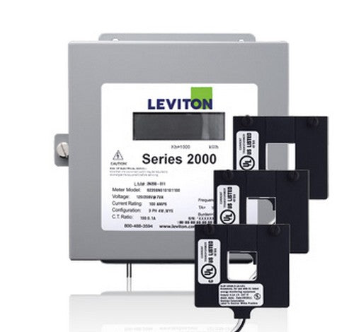 Leviton 2K208-4D Series 2000 3P/4W 400A Demand Indoor Kit w/3 Split Core CTs 120 ~ 208V