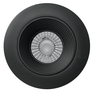 ELCO Lighting E2L14F27BB Teak System All Black LED 2 Inch Recessed Lighting Round Baffle- BuyRite Electric