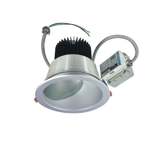 "Nora Lighting NCR2-862540ME5BWSF 30W 8"" Sapphire II Retrofit Narrow Flood Type Wall Wash Reflector 2500lm 4000K  Black / White Flanged Finish  120-277V Input; 0-10V dimming"