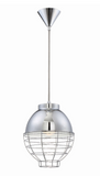 Eurofase Lighting 30013-018 Brampton 1 Light 10 inch Pendant Ceiling Light Chrome Finish