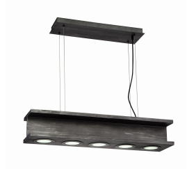 Eurofase Lighting 30034-013 Fascio LED 8 inch Rustic Pendant Ceiling Light Black Finish