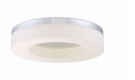 Eurofase Lighting 30155-015 Abell LED 10 inch Flush Mount Ceiling Light Chrome Finish
