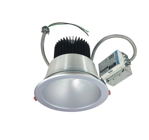 "Nora Lighting NCR2-812535FE3BWSF 30W 8"" Sapphire II Retrofit Flood Type Open Reflector 2500lm 3500K  Black / White Flanged Finish  120V Input; Triac/ELV/0-10V dimming"