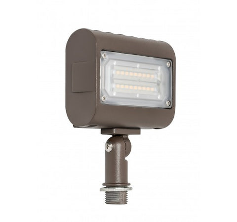 "Westgate 15W Small Led Flood Lights LF3 Series 120~277V With 1/2"" Knuckle - Dark Bronze - BuyRite Electric"