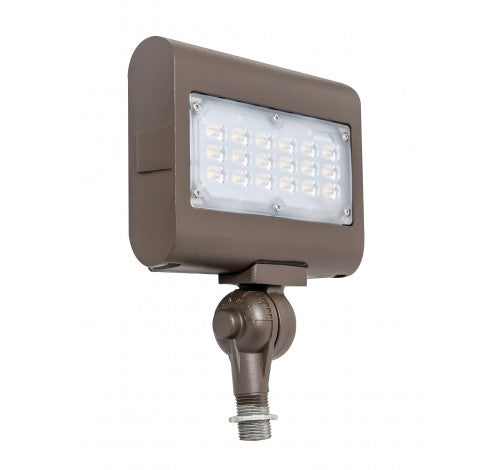 "Westgate 30W Medium Led Flood Lights LF3 Series 120~277V With 1/2"" Knuckle - Dark Bronze - BuyRite Electric"
