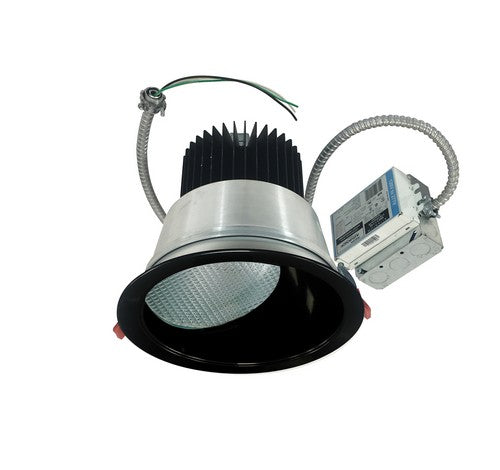 "Nora Lighting NCR2-862540SE3BSF 30W 8"" Sapphire II Retrofit Spot Type Wall Wash Reflector 2500lm 4000K Black / Self Flanged Finish 120V Input; Triac/ELV/0-10V dimming"