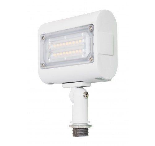 "Westgate 15W Small Led Flood Lights LF3 Series 120~277V With 1/2"" Knuckle - White - BuyRite Electric"