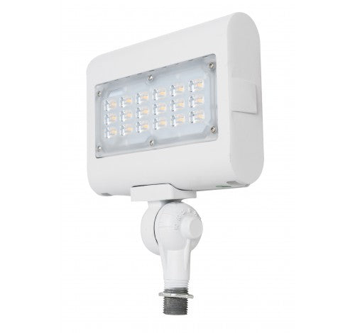 "Westgate 30W Medium Led Flood Lights LF3 Series 120~277V With 1/2"" Knuckle - White - BuyRite Electric"