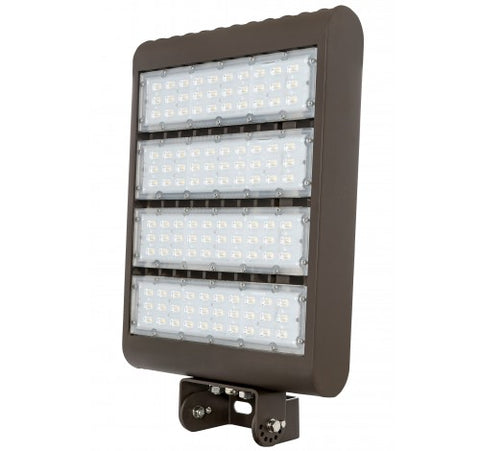 Westgate 220W Medium Led Flood Lights With Yoke 3rd Generation 480V - Dark Bronze - BuyRite Electric