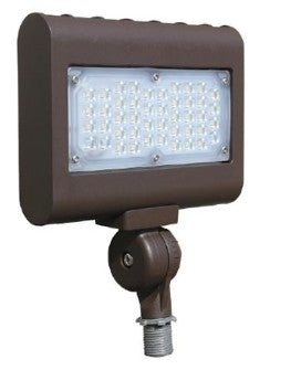 Westgate LF3-HL-50W-30K-D-KN 50 Watt LED High Lumen LF3 Flood/Area Light Fixture with Knuckle Mount Bronze Finish 3000K 120-277V