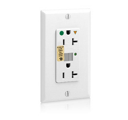 Leviton 8380 Decora Plus Surge Protective Isolated Ground Duplex Receptacle Outlet, Heavy-Duty Hospital Grade 125V AC WH - BuyRite Electric