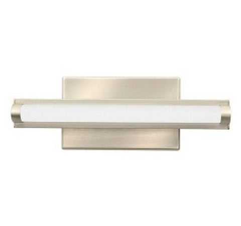 "Lithonia Lighting FMVCAL Contemporary Arrow 12"" Brushed Nickel LED Vanity 120V- BuyRite Electric"