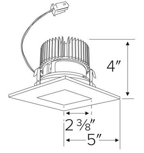 ELCO Lighting E417C08 Cedar System 4 Inch Square on Square Reflector 850 Lm- BuyRite Electric