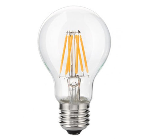 Westgate 7W LED Filament A19 Bulb Clear glass 120V UL listed