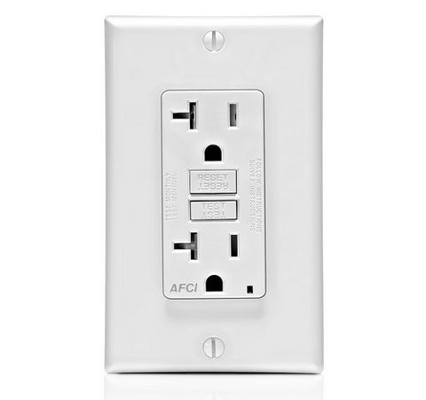 LEVITON AFTR2 SmartlockPro Outlet Branch Dual Function AFCI / GFCI Receptacle 15A / 125 VAC WH - BuyRite Electric