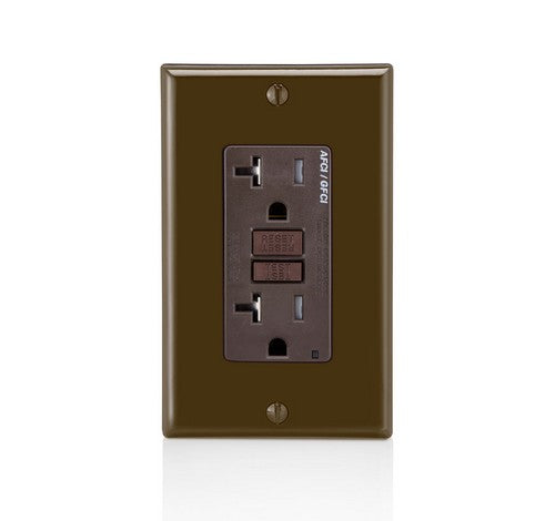 LEVITON AGTR2 SmartlockPro Dual Function AFCI/GFCI Receptacle 20A / 125 VAC BR - BuyRite Electric