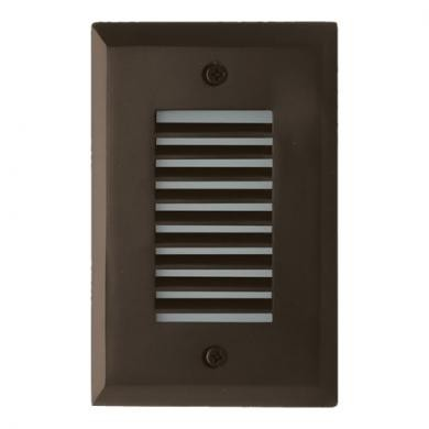 ELCO Lighting ELST9230BZ Mini LED Step Light with Angled Louver 2W 3000K 1000 lm 12V Bronze Finish | BuyRite Electric
