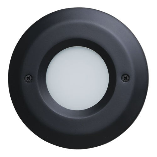 ELCO Lighting ELST8640B Round Mini LED Step Light with Open Faceplate 3W 4000K 120V Black Finish