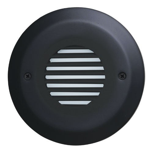 ELCO Lighting ELST8530B Round Mini LED Step Light with Angled Louver 3W 3000K 12V Black Finish | BuyRite Electric
