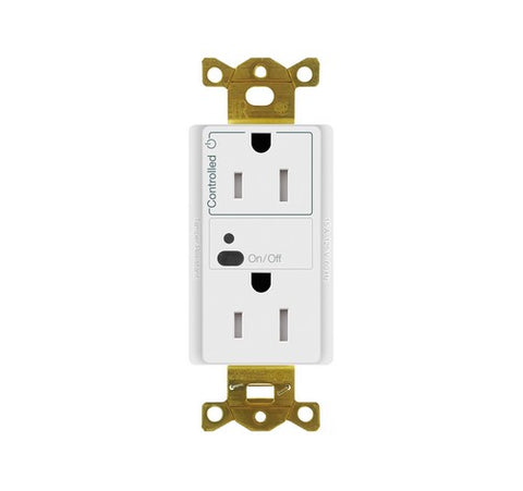 Lutron Vive Receptacle With Clear Connect Technology Wireless Control WH - BuyRite Electric