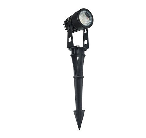 "ABBA Lighting 5W CD43 Cast Aluminum Spot Light With 20"" wire & PVC ground spike 12V AC / DC - BuyRite Electric"
