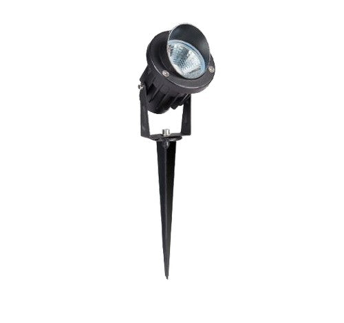 "ABBA Lighting 9W CDR75 Cast Aluminum Spot Light With Plastic Spike &  20"" wire 12V AC / DC - BuyRite Electric"