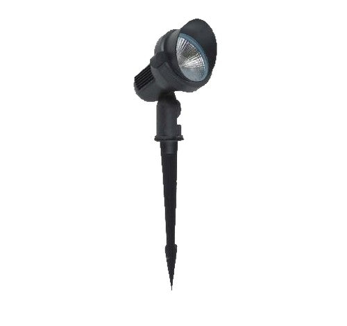 ABBA Lighting 10W CD85 Cast Aluminum Spot Light With Ground Plastic Spike 12V AC / DC - BuyRite Electric