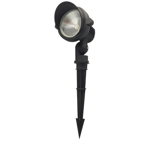 ABBA Lighting 15W CDR85 Cast Aluminum Spot Light With Ground Plastic Spike 12V AC