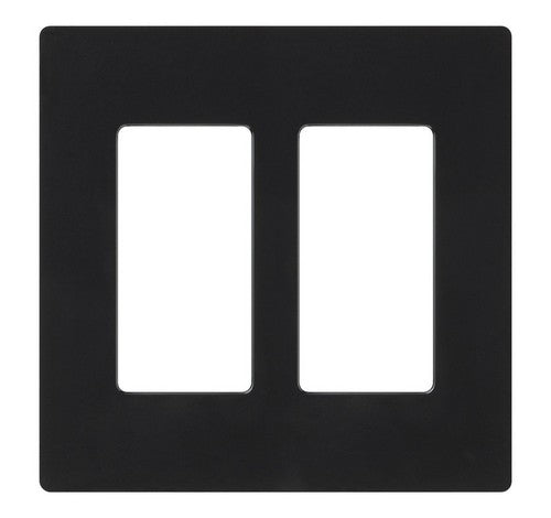 Lutron CW-2-XX Designer Claro Style 2 Gang Wall Plate BL - BuyRite Electric