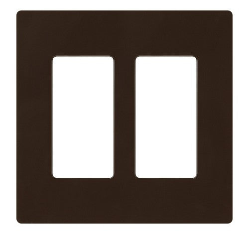 Lutron CW-2-XX Designer Claro Style 2 Gang Wall Plate BR - BuyRite Electric
