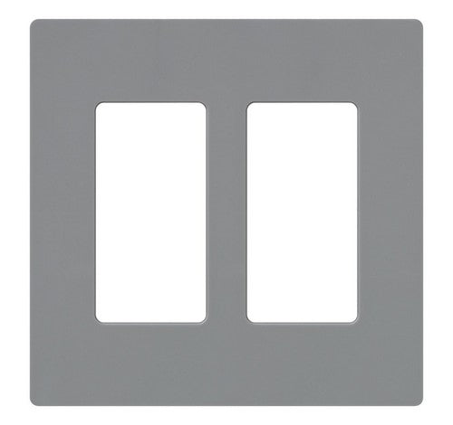 Lutron CW-2-XX Designer Claro Style 2 Gang Wall Plate GR - BuyRite Electric
