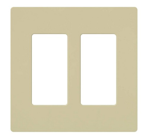 Lutron CW-2-XX Designer Claro Style 2 Gang Wall Plate IV - BuyRite Electric