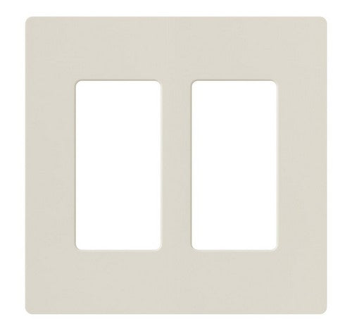 Lutron CW-2-XX Designer Claro Style 2 Gang Wall Plate AL - BuyRite Electric