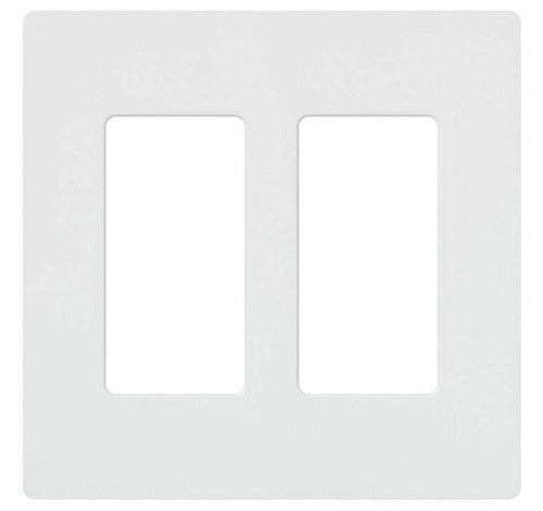 Lutron CW-2-XX Designer Claro Style 2 Gang Wall Plate WH - BuyRite Electric