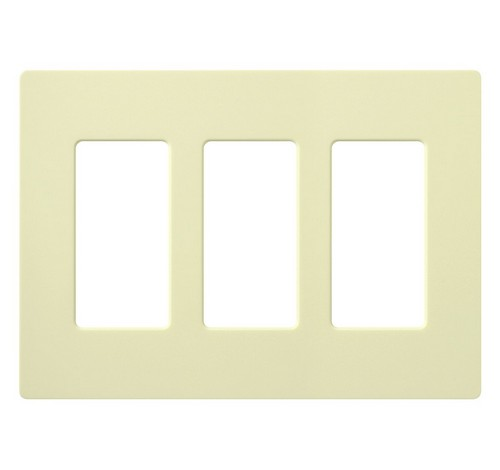 Lutron CW-3-XX Designer Claro Style Three Gang Wall Plate LA - BuyRite Electric