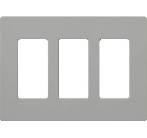 Lutron CW-3-XX Designer Claro Style Three Gang Wall Plate GR - BuyRite Electric