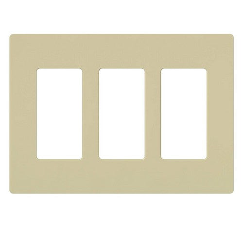 Lutron CW-3-XX Designer Claro Style Three Gang Wall Plate IV - BuyRite Electric